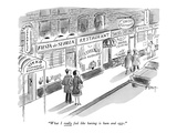 """What I really feel like having is ham and eggs."" - New Yorker Cartoon Premium Giclee Print by Barney Tobey"