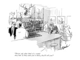 """Never ask what kind of a round they had.  If they want you to know, they'…"" - New Yorker Cartoon Premium Giclee Print by Perry Barlow"