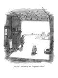 """Jesse, isn't that one of Mr. Ferguson's wheels"" - New Yorker Cartoon Premium Giclee Print by George Booth"