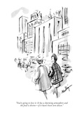 """You're going to love it. It has a charming atmosphere and the food is div…"" - New Yorker Cartoon Giclee Print by James Mulligan"