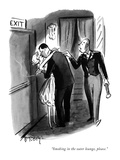 """Smoking in the outer lounge, please."" - New Yorker Cartoon Premium Giclee Print by Barney Tobey"