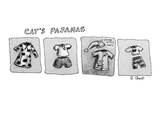 Cat's Pajamas - Cartoon Regular Giclee Print by Roz Chast