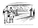 """I am a little nervous. It's the first time I've ever pitched to two milli…"" - New Yorker Cartoon Premium Giclee Print by Joseph Mirachi"