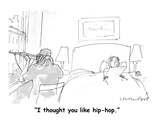 """I thought you like hip-hop."" - Cartoon Regular Giclee Print by Michael Crawford"