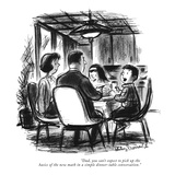 """Dad, you can't expect to pick up the basics of the new math in a simple d…"" - New Yorker Cartoon Reproduction giclée Premium par Jr., Whitney Darrow"