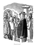 """Who are these people"" - New Yorker Cartoon Premium Giclee Print by Peter Arno"