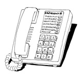 Telephone with speed-dial selections: Therapist, Haircolorist, Manicurist,… - Cartoon Regular Giclee Print by Marisa Acocella Marchetto