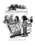 """Do we have any anti-Christmas cards"" - New Yorker Cartoon Premium Giclee Print by Jr., Whitney Darrow"