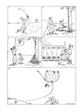 Golfer hits ball that lands in a treetop; he inflates his golf breeches an… - New Yorker Cartoon Premium Giclee Print by Alfred Frueh