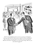 """Hi! I'm Greg Holbrook, born in L.A., now live in Stamford with my wife an…"" - New Yorker Cartoon Premium Giclee Print by Barney Tobey"