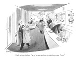"""Well, so long, fellows. I'm off to gay, carefree, exciting Stuyvesant Tow…"" - New Yorker Cartoon Premium Giclee Print by Barney Tobey"