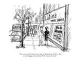 """The reason our dividends won't take us 'flying down to Rio' is that we do…"" - New Yorker Cartoon Premium Giclee Print by Everett Opie"