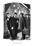 """Great Scott! Now what's happened"" - New Yorker Cartoon Premium Giclee Print by Peter Arno"