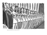 """Makes you kind of proud to be an American, doesn't it"" - New Yorker Cartoon Premium Giclee Print by Peter Arno"