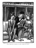 """Those Peggy Joyce revelations are rather corking, aren't they"" - New Yorker Cartoon Premium Giclee Print by Peter Arno"