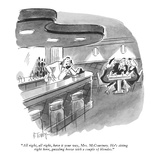 """All right, all right, have it your way, Mrs. McCourtney.  He's sitting ri…"" - New Yorker Cartoon Premium Giclee Print by Barney Tobey"