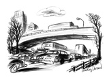 A sign on the trunk of a car in rush hour traffic reads: 'Just Employed.' - New Yorker Cartoon Premium Giclee Print by Jr., Whitney Darrow