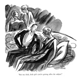 """But my deah, deah girl—you're getting offen the subject."" - New Yorker Cartoon Premium Giclee Print by Peter Arno"