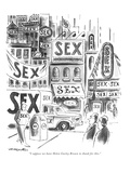 """I suppose we have Helen Gurley Brown to thank for this."" - New Yorker Cartoon Premium Giclee Print by Henry Martin"
