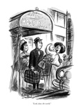 """Look, dear, the world."" - New Yorker Cartoon Premium Giclee Print by Jr., Whitney Darrow"