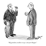 """My grandson, needless to say, is also pro-Reagan."" - New Yorker Cartoon Giclee Print by James Mulligan"