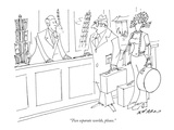 """Two separate worlds, please."" - New Yorker Cartoon Premium Giclee Print by Ed Arno"