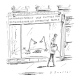 Store's name is 'Extraordinarily Ugly Clothes for Extraordinarily Attracti… - Cartoon Giclee Print by Barbara Smaller