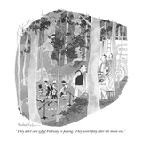 """They don't care what Folkways is paying. They won't play after the moon s…"" - New Yorker Cartoon Premium Giclee Print by Rowland Wilson"