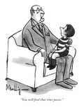 """You will find that time passes."" - New Yorker Cartoon Premium Giclee Print by James Mulligan"