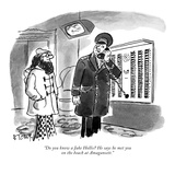 """Do you know a Jake Hollis He says he met you on the beach at Amagansett."" - New Yorker Cartoon Premium Giclee Print by Barney Tobey"