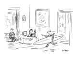 """Tell my one-thirty things got way gnarly."" - New Yorker Cartoon Premium Giclee Print by David Sipress"