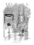 """Mama—does God live here"" - New Yorker Cartoon Premium Giclee Print by Helen E. Hokinson"