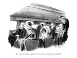 """I wonder, sir, if you expect to be using your complimentary cocktail."" - New Yorker Cartoon Premium Giclee Print by Barney Tobey"
