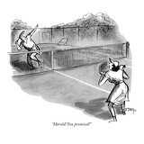 """Harold! You promised!"" - New Yorker Cartoon Premium Giclee Print by Barney Tobey"