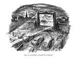 """and so we say goodbye to beautiful New England."" - New Yorker Cartoon Premium Giclee Print by Alan Dunn"