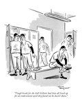 """Tough break for the kid! Gillette had him all lined up for an endorsement…"" - New Yorker Cartoon Premium Giclee Print by David Langdon"
