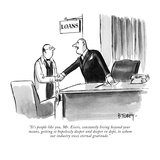 """It's people like you, Mr. Evers, constantly living beyond your means, get…"" - New Yorker Cartoon Premium Giclee Print by Barney Tobey"