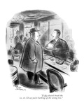 """""""If this doesn't break the ice, sir, I'd say you're barking up the wrong t…"""" - New Yorker Cartoon Giclee Print by Jr., Whitney Darrow"""