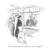 """We've already seen that movie. What's on the nine-o'clock flight"" - New Yorker Cartoon Premium Giclee Print by Perry Barlow"