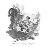 """Well—it was ten to three, favor of the girls."" - New Yorker Cartoon Premium Giclee Print by Perry Barlow"