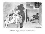 """Damn it, Flopsy, you've cost me another bust.""  - New Yorker Cartoon Premium Giclee Print by David Borchart"