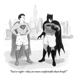 """""""You're right—they are more comfortable than briefs!""""  - New Yorker Cartoon Premium Giclee Print by Emily Flake"""
