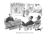 """Everybody, it seems, wants to be warm."" - New Yorker Cartoon Giclee Print by James Mulligan"
