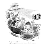 """""""I suppose, as with most differences of opinion, the truth lies somewhere …"""" - New Yorker Cartoon Premium Giclee Print by Perry Barlow"""