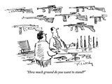 """How much ground do you want to stand""  - New Yorker Cartoon Premium Giclee Print by Mike Twohy"