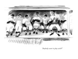 """Anybody want to play catch"" - New Yorker Cartoon Premium Giclee Print by Garrett Price"