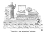 """There's been a huge outpouring of emoticons."" - New Yorker Cartoon Premium Giclee Print by Paul Noth"
