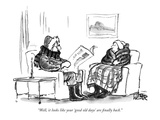 """""""Well, it looks like your 'good old days' are finally back."""" - New Yorker Cartoon Premium Giclee Print by Robert Weber"""