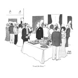 """I read 'Art News.'"" - New Yorker Cartoon Premium Giclee Print by Joseph Farris"