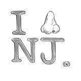 I smell New Jersey. - Cartoon Giclee Print by Carolita Johnson
